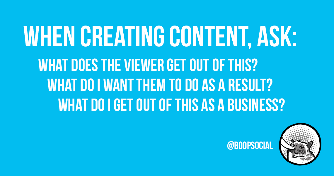 When creating content