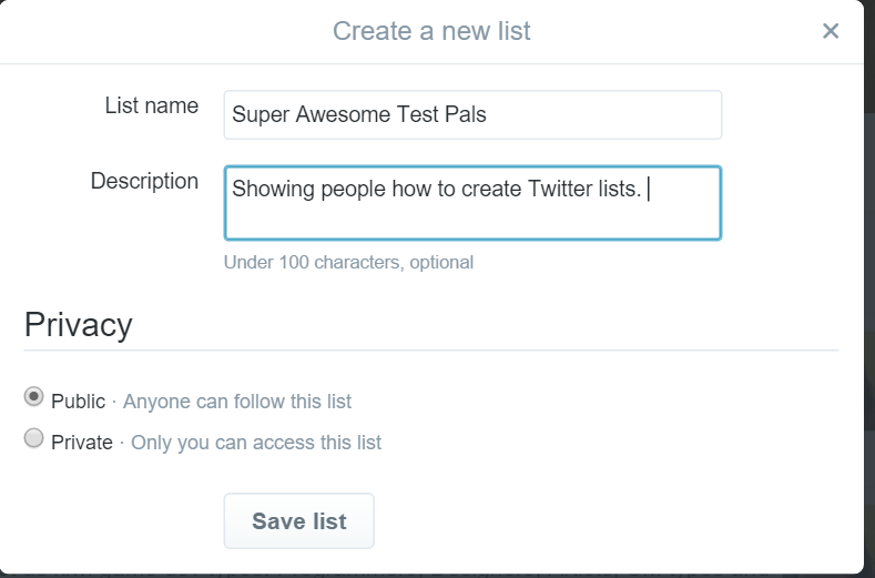 Super awesome test pals Twitter list