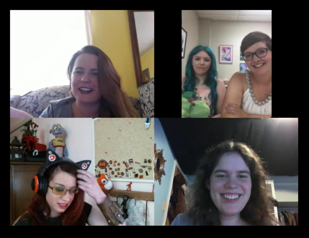 Chatting books with awesome ladies