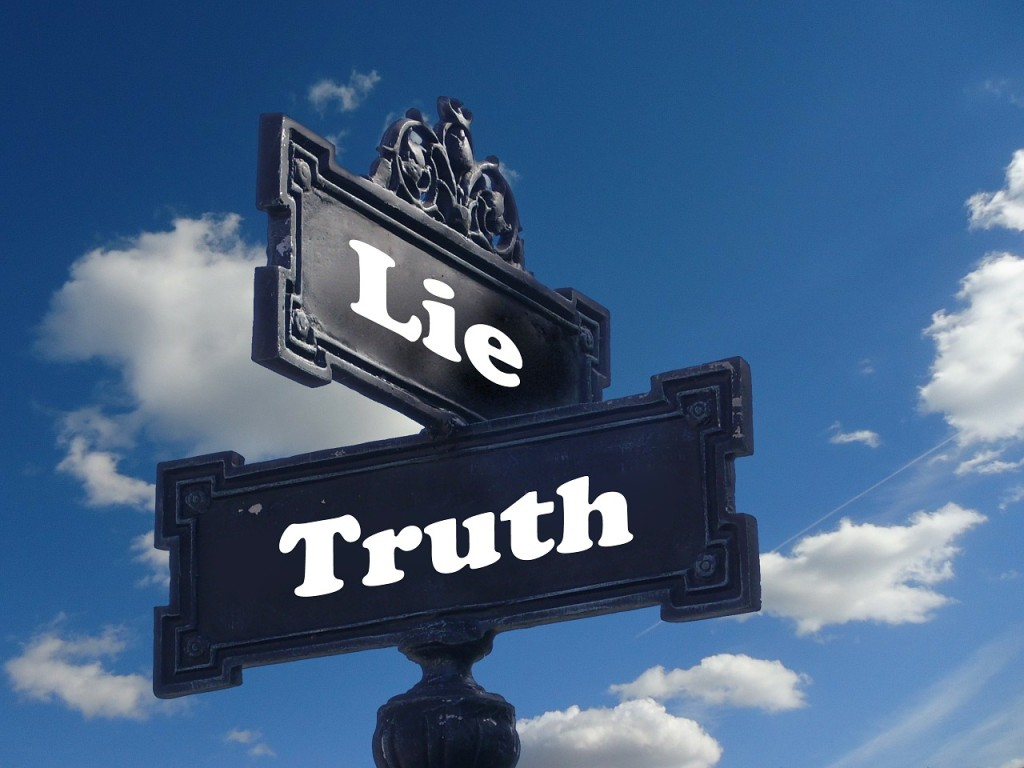truth vs lie sign