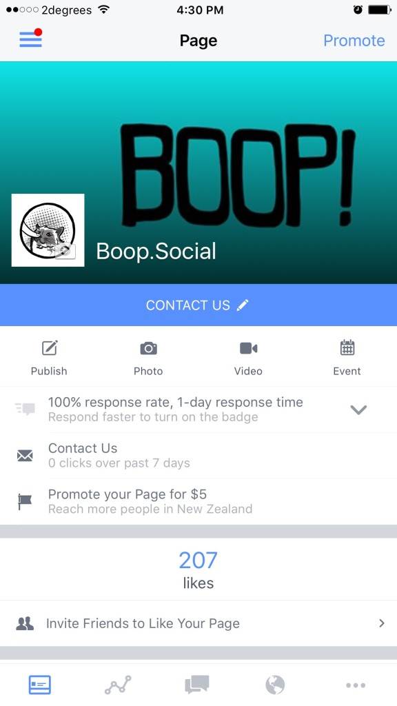 Facebook Pages Mobile App