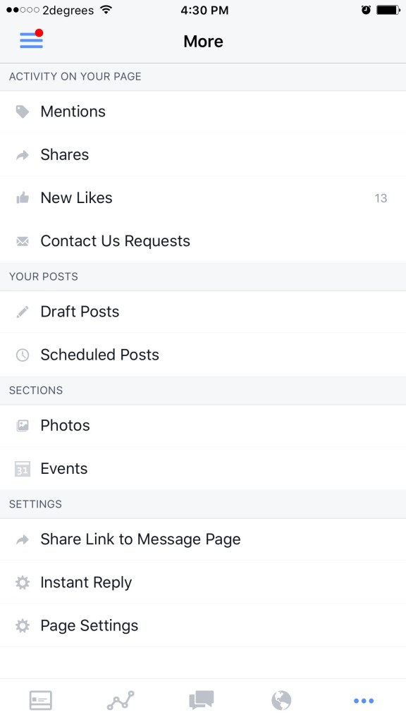 Facebook Page App Settings