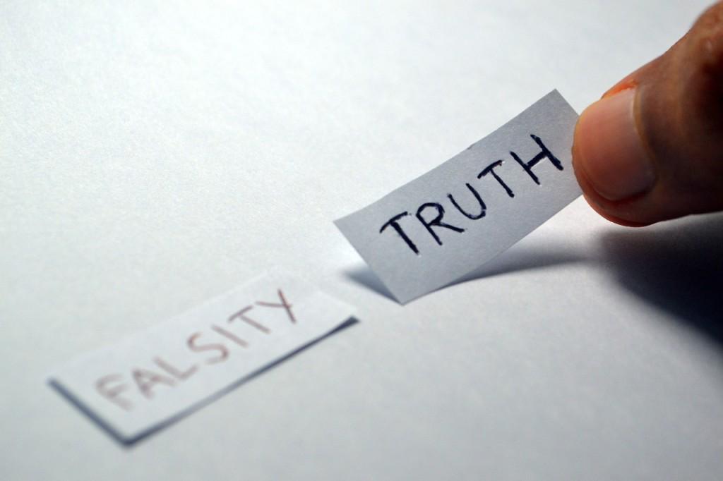 Falsity vs Truth paper scraps