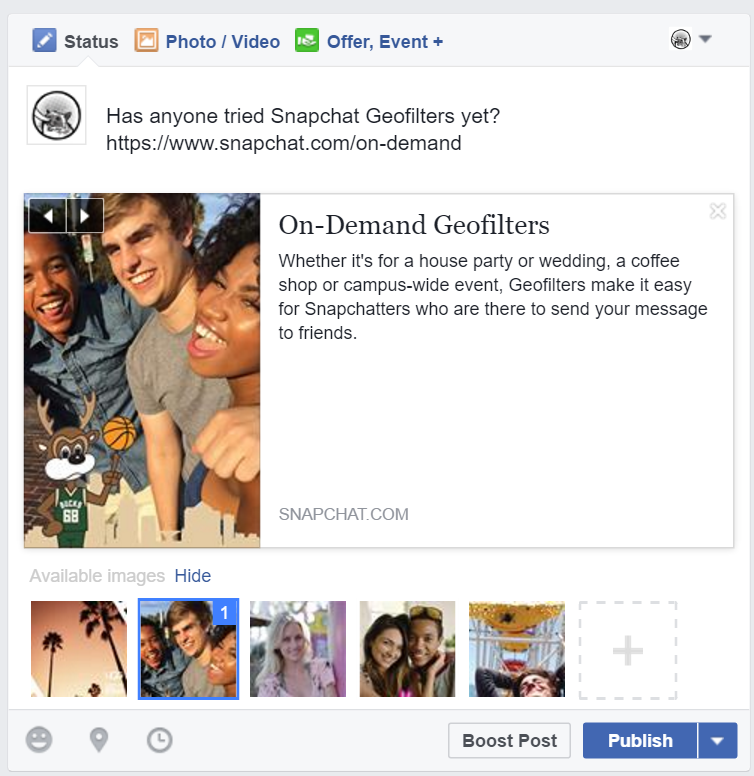 Pasting the link into your Facebook fan page post