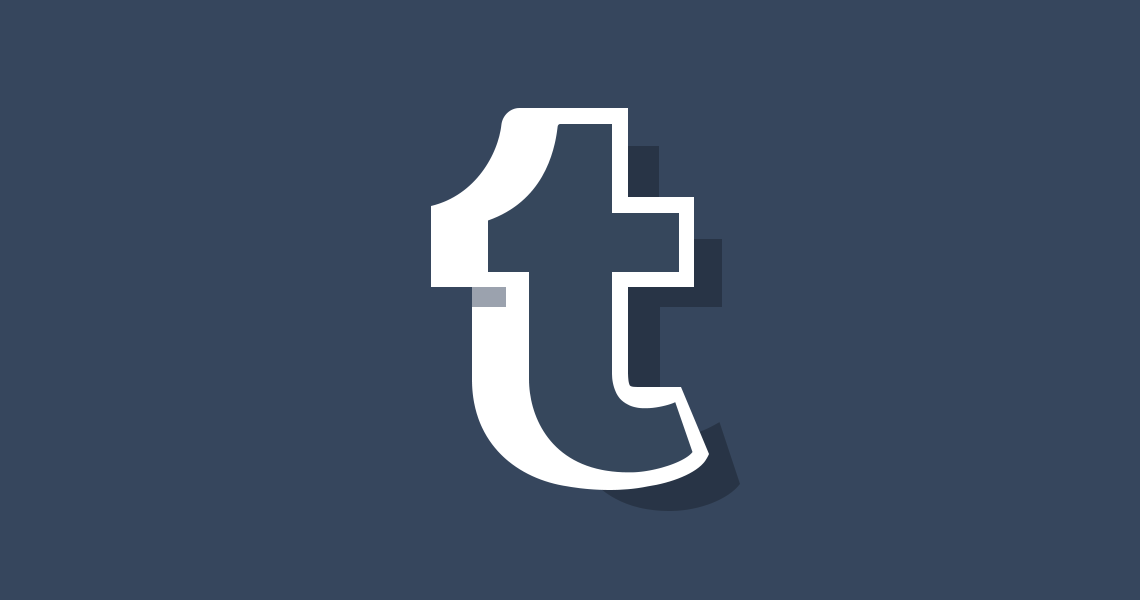 tumblr logo on blue background