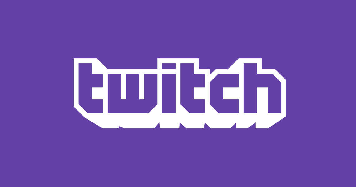 twitch logo on purple background